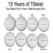 Titleist Pro V1 Over the Years