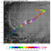 The recon plane will soon fly down into the northern or northwestern eyewall, which is likely to have even stronger wind
