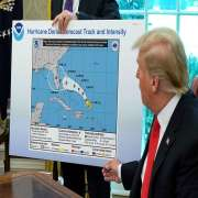 Donald Trump Uses Sharpie to add Alabama to Hurricane Cone