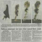 Space Shuttle Balloon Fiery Crash