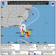 HURRICANE WARNING ISSUED: From Jupiter, Inlet Florida to the Brevard/Volusia County, Florida Line. HURRICANE WATCH ISSUE